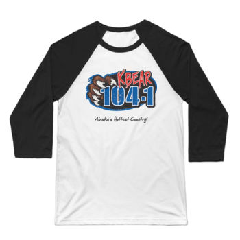 KBEAR LOGO - 3/4 SLEEVE BASEBALL TEE - WHITE/BLACK Thumbnail